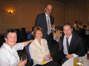 Claire McArdle, Sarah Vernon (Dinner Secretary), Mike Rigby & Phil Vernon