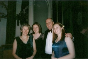 Chairman Stephen Shipley with wife Rebecca and daughters Jayne and Rebecca