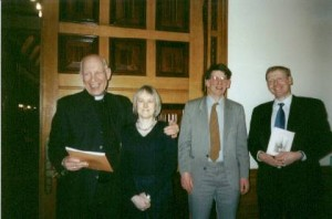 The Rev. David Cawley, Sharon Wall, Richard Jones and Simon Adams